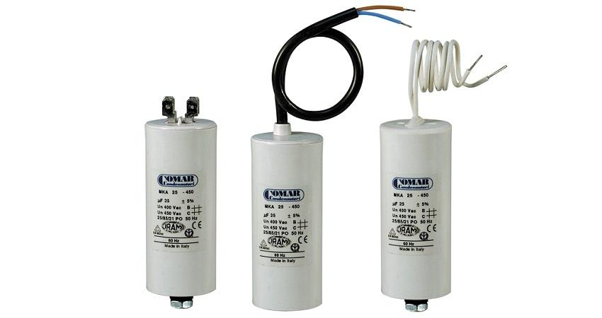 condensateurs pour moteurs électriques COMAR